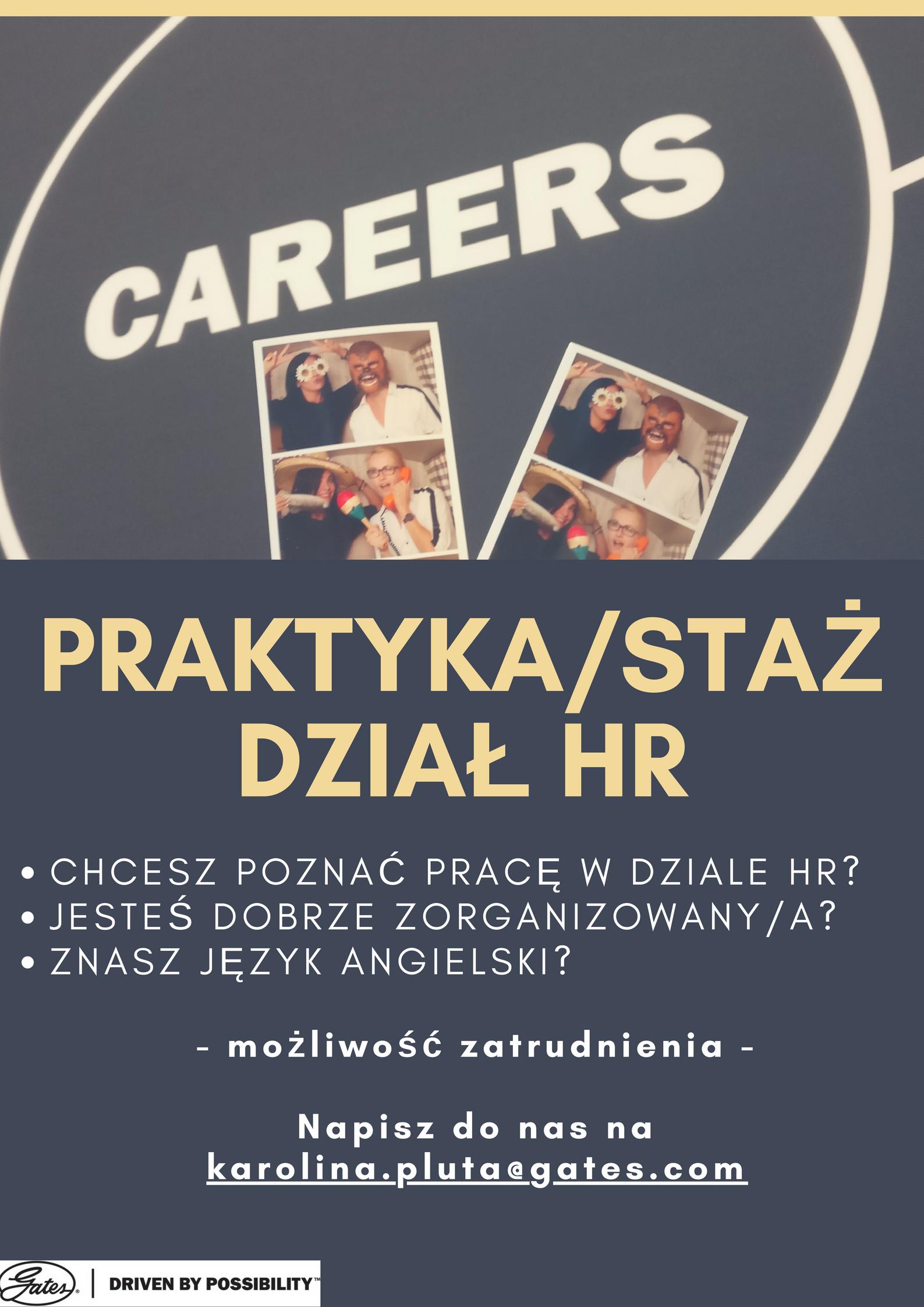 8124ddb8f6eff Gates Polska Sp. z o.o. oferuje  Praktyki Staże w Dziale HR.
